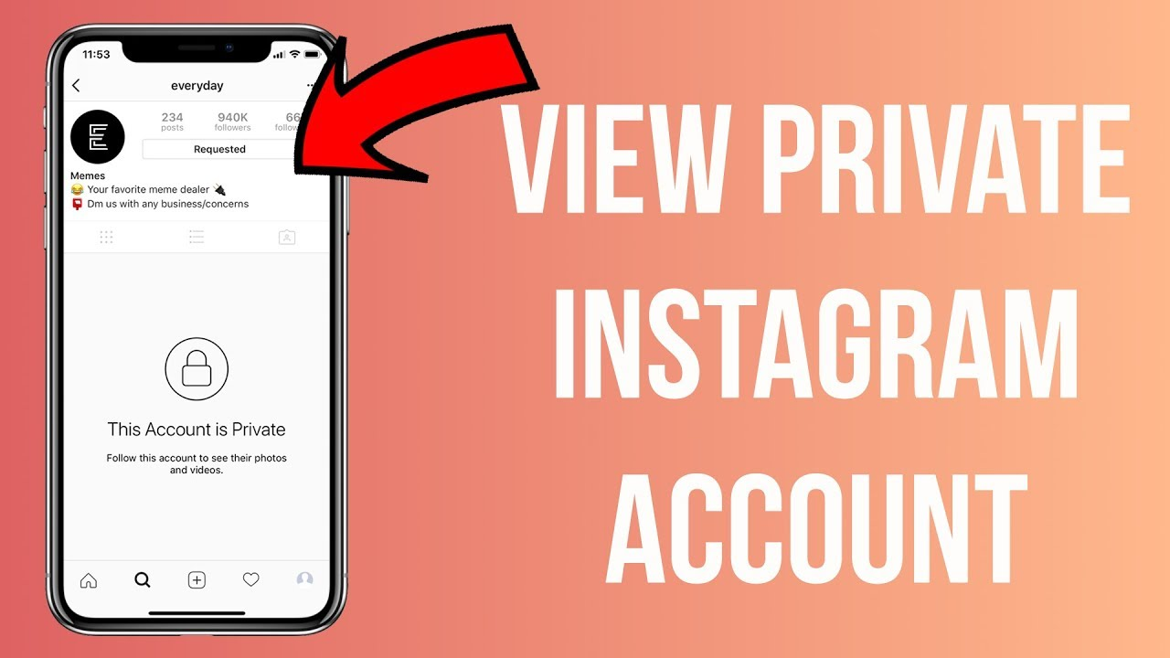 How to view a private Instagram Account?